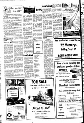The Sioux County Capital from Orange City, Iowa on September 16, 1971 · Page 8