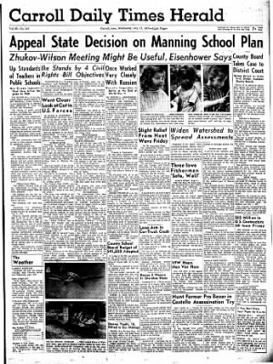 Carrol Daily Times Herald from Carroll, Iowa on July 17, 1957 · Page 1