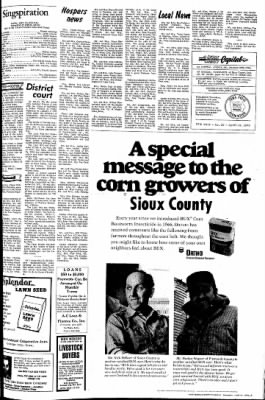 The Sioux County Capital from Orange City, Iowa on April 13, 1972 · Page 3