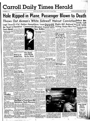 Carrol Daily Times Herald from Carroll, Iowa on July 25, 1957 · Page 1