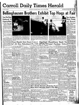 Carrol Daily Times Herald from Carroll, Iowa on August 1, 1957 · Page 1