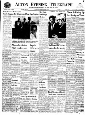 Alton Evening Telegraph from Alton, Illinois on August 1, 1960 · Page 1