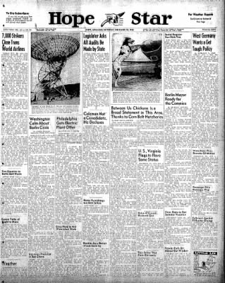 Hope Star from Hope, Arkansas on November 22, 1958 · Page 1