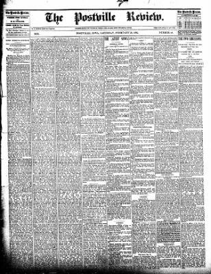 The Postville Review from Postville, Iowa on February 20, 1892 · Page 1