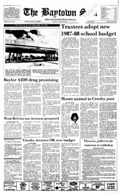 The Baytown Sun from Baytown, Texas on August 25, 1987 · Page 1