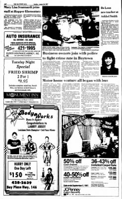 The Baytown Sun from Baytown, Texas on August 30, 1987 · Page 20