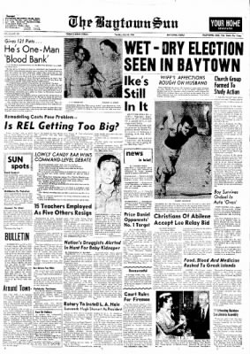 The Baytown Sun from Baytown, Texas on July 10, 1956 · Page 1