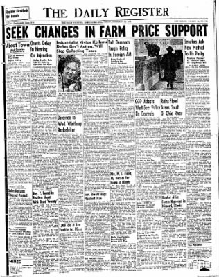 The Daily Register from Harrisburg, Illinois on February 13, 1948 · Page 1