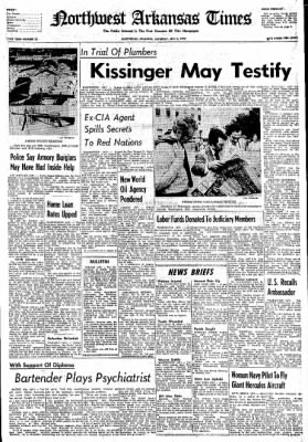 Northwest Arkansas Times from Fayetteville, Arkansas on July 6, 1974 · Page 1