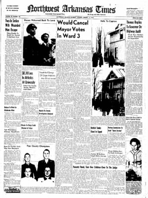 Northwest Arkansas Times from Fayetteville, Arkansas on January 12, 1952 · Page 1