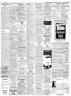 Northwest Arkansas Times from Fayetteville, Arkansas on January 28, 1952 · Page 9
