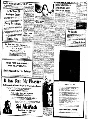 Northwest Arkansas Times from Fayetteville, Arkansas on August 11, 1952 · Page 9