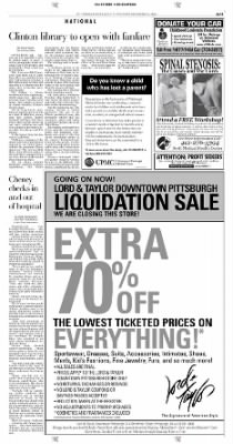 Pittsburgh Post-Gazette from Pittsburgh, Pennsylvania on November 14, 2004 · Page 11